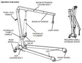 Bgs Technic Motorkraan werkplaatskraan 1000 kg_