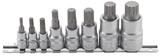 Dopsleutelbitset veeltand (voor XZN) M4 - M16 8-dlg_