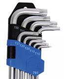 Bgs Technic Stiftsleutelset extra lang T-profiel (voor Torx) T10 - T50 9-delig_