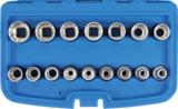 Dopsleutelset twaalfkant 12,5 mm (1/2) 8 - 24 mm 16-delig_