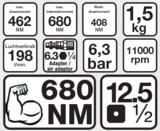 Bgs Technic Slagmoersleutel 1/2 BGS, 610 Nm_