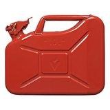 Jerrycan 10 Liter metaal rood UN- & TuV/GS-gekeurd_