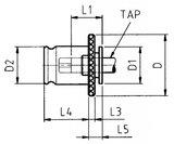 Tapkop met slipkoppeling DIN376 M20_