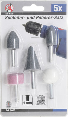 5-delige mounted slijpen point set