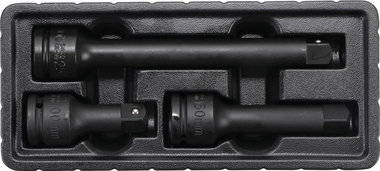 Bgs Technic Kracht verlengstukset buiten-/binnenvierkant 20 mm (3/4) 3-dlg