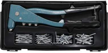 Klinknageltang-set 2,4 / 3,2 / 4,0 / 4,8 mm 250mm