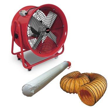 Ventilator 400 mm met accessoires 580x550x360mm