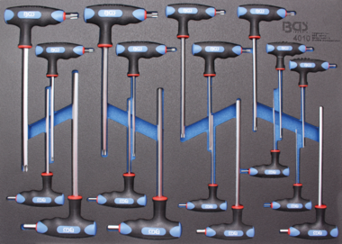 T-greep schroevendraaier inbus, T-profiel (voor Torx) 18-dlg
