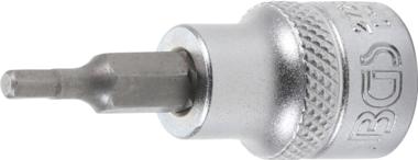 Bgs Technic 3/8 bit dop, binnenzeskant 1/8 x 48 mm