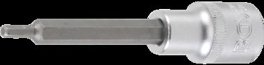 Bgs Technic 1/2 int. Hex. Bit dop, 100 mm lang, 4 mm