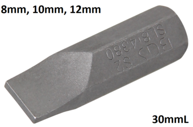 Bgs Technic Plain slot bit 8 mm, 30 mm lang, 5/16 drive