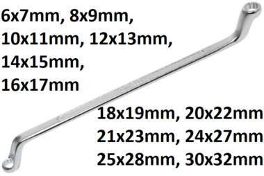 Bgs Technic Diepe crank dubbeleringsleutel, 6x7 mm