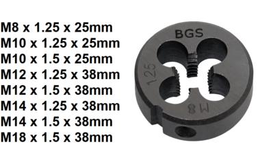 Bgs Technic Draadsnijmal M8 x 1,25 x 25 mm