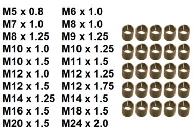 Bgs Technic Schroefdraad huls, M5x0,8 25 delig