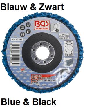 Bgs Technic Slijpschijf, blauw, 100 x 16 mm