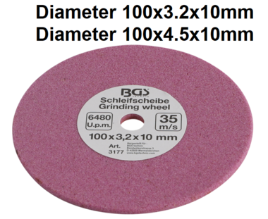 Bgs Technic Slijpschijf voor BGS 3180 100 x 3,2 x 10 mm