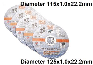 Bgs Technic Slijpschijf 115 x 1,0 x 22,2 mm, 5 stuks