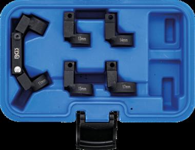 Bgs Technic Buis-leidingsleutelset flexibel 5 wisselkoppen (3/8) 11 - 17mm