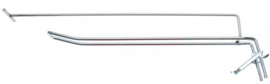 Bgs Technic Wandhaak dubbel 300 x 4,8 mm met draagarm en dwarspen