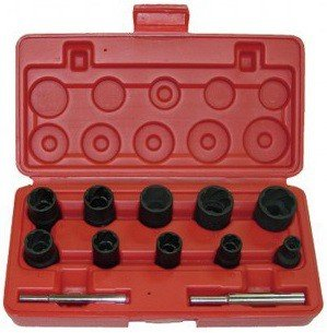 Twist socket 3/8 & 1/2 set 12-pc