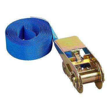 Spanband blauw met ratel 3,5 meter