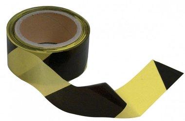 Afzetlint zwart-geel 50mm