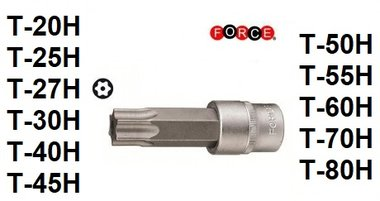 Resistorx bit doppen 1/2 (55 & 70mmL)