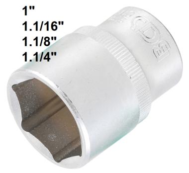Bgs Technic Dopsleutel zeskant 12,5 mm (1/2) 1