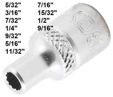 Bgs Technic Dopsleutel twaalfkant 6,3 mm (1/4) 5/32