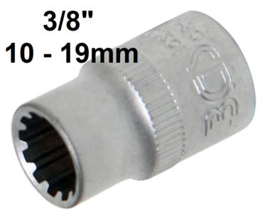 Bgs Technic 3/8 dop gear lock , 10 mm