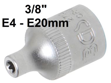 Bgs Technic 3/8 dop voor inwendig torx schroeven, E4