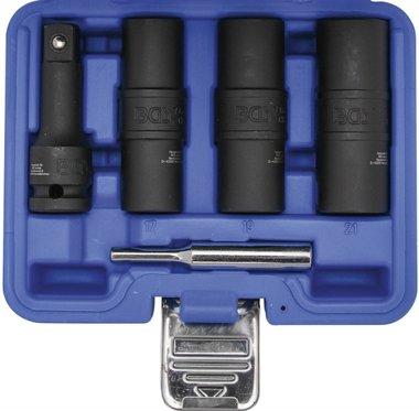 Speciale kracht dopsleutel kniestukkenset Zeskant en schroevendraaier 17 - 19 - 21 mm (1/2) 3-dlg