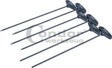 T-greepset, 6 stuks, extra lang, tx-ster T10-T30