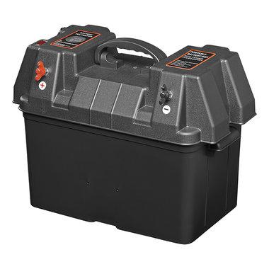 Accubak 33x20x20cm 2x USB - 2x 12V stekkerdoos - Voltmeter