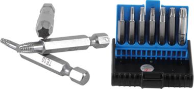 Schroeven uitdraaiset voor defect T-profiel (voor Torx) T10 - T40 7-dlg