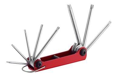Resistorx sleutelset inklapbaar 8 delig