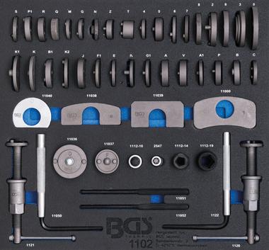 Bgs Technic 2/3 Tool Tray voor Roller Kasten: 50-delige remzuiger Wind-Back Set