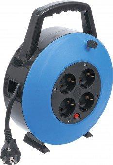 Kabelhaspelbox | 10 m | 3x 1,5 mm² | 4 stopcontacten | IP 20 | 3000 W