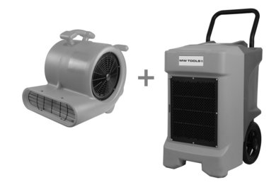 Pack BDE95 bouwdroger en RV3000 vloerventilator