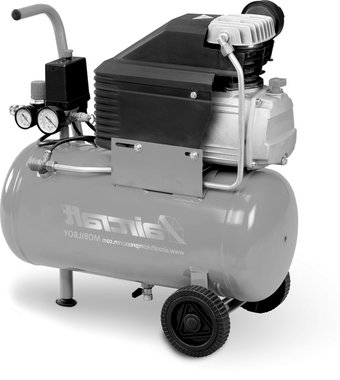 Mobiele compressor hos 8 bar, 24liter