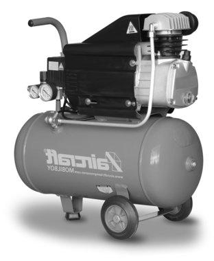 Mobiele compressor 8 bar 25l 113l/min