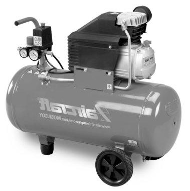 Mobiele compressor hos 8 bar, 50liter