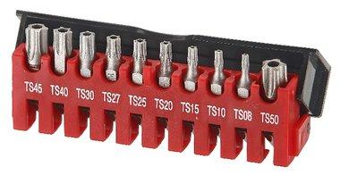 Bit set 5-kant Resistorx TS 10-delig