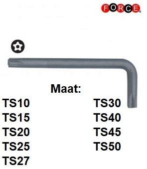 Haakse Torx TS 5-kant sleutelset