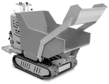 Mini hydrostatische rupsdumper met laadbak 500kg