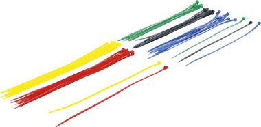 Kabelbinder assortiment kleur 4,8 x 300 mm 50-dlg