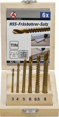Bgs Technic Freesboor, HSS, 6 delig, 3 - 8 mm