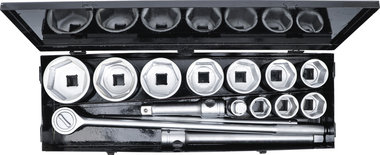 Dopsleutelset 25 mm (1) 36 - 80 mm 15-dlg