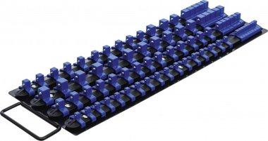 Opsteekrail-set voor dopsleutels met 80 clips voor dopsleutels van 1/4   3/8   1/2
