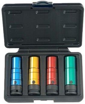 Torsie krachtdoppen set 17-19-21-22mm